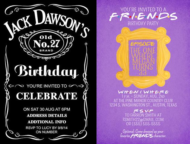 Friends Whatsapp Birthday Invitations