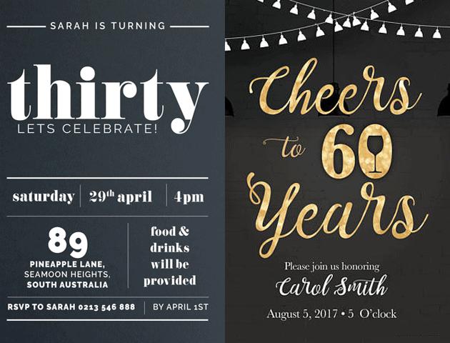 Corporate Whatsapp Birthday Invitation Card