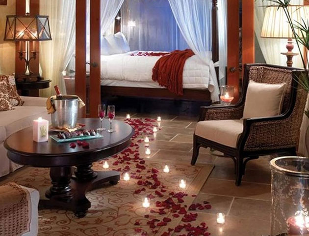 Pathway Of Roses Wedding Night Room Decoration