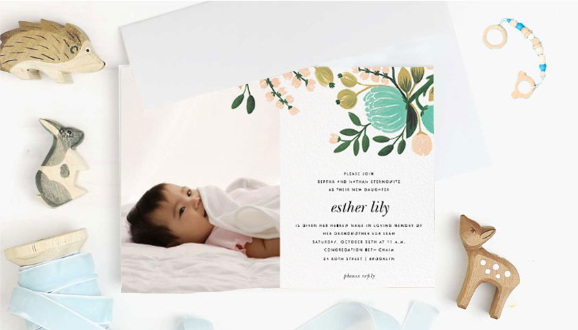 Super Cute Naming Ceremony Invitation Card Templates And