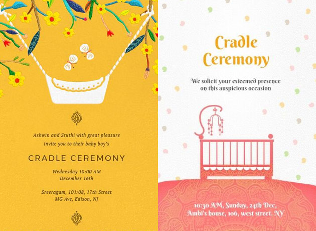 Super Cute Naming Ceremony Invitation Card Templates And Invitation