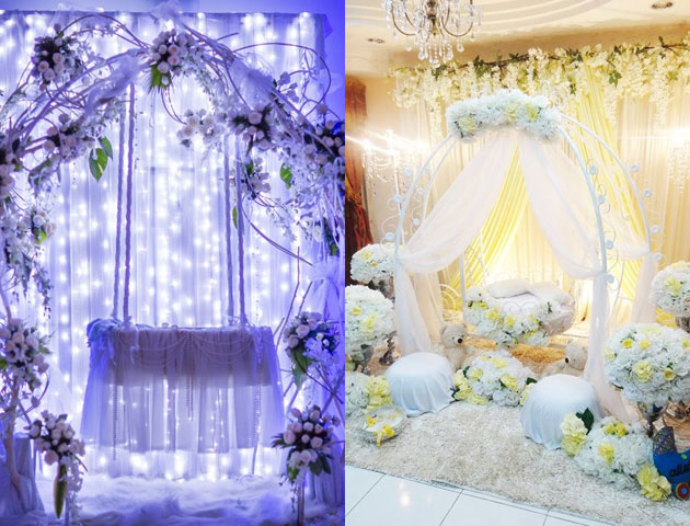 naming ceremony decoration, cradle ceremony decoration, baby naming ceremony decoration, cradle decoration, naming ceremony decoration themes