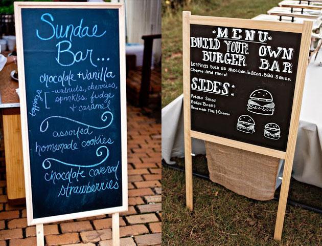 wedding food, wedding catering, wedding menu, wedding menu ideas, wedding food menu, DIY wedding counter