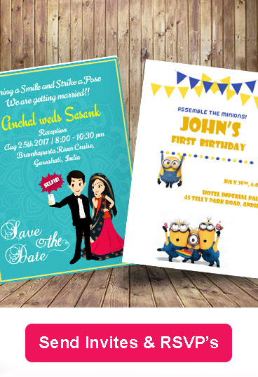 Wedding Invites, Birthday Invites, Corporate Event Invites