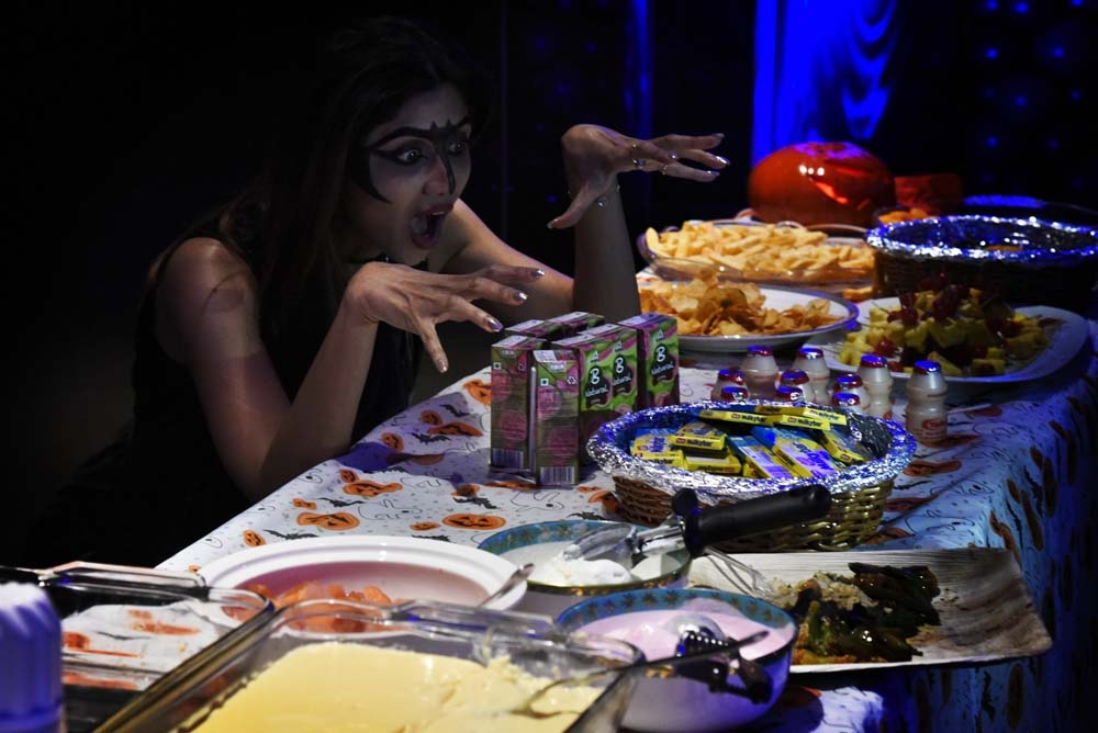Shilpa Shetty son, Viaan, birthday Decoration, Halloween Food, Shilpa Shetty scary