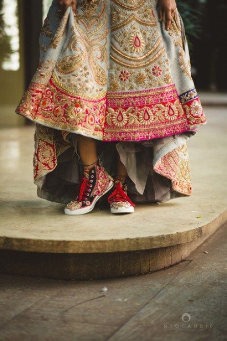 Wedding shoes, happy indian bride, comfortable wedding, wedding sneakers