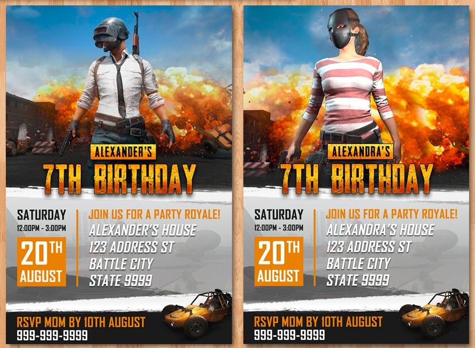 Pubg Party, Pubg, pubg themed birthday party, Pubg theme, Pubg themed birthday party ideas Pubg birthday invites, pubg birthday theme, player unknowns battleground, battle royale