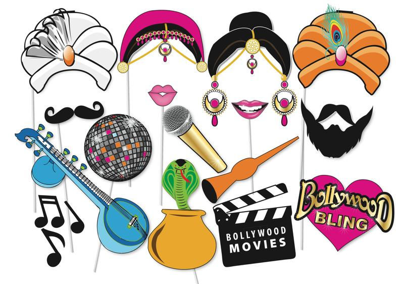 bollywood theme wedding, bollywood party, bollywood cinema ,bollywood style, bollywood theme party, Bollywood photobooth Props