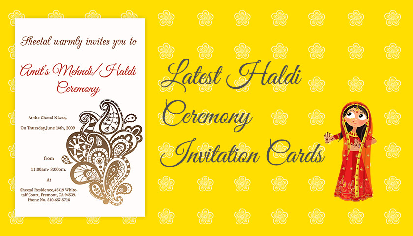 Latest Haldi Invitation Cards Haldi Ceremony Quotes