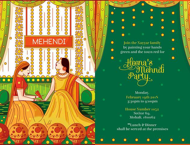 Kitschy - Haldi Mehendi Invitation Cards