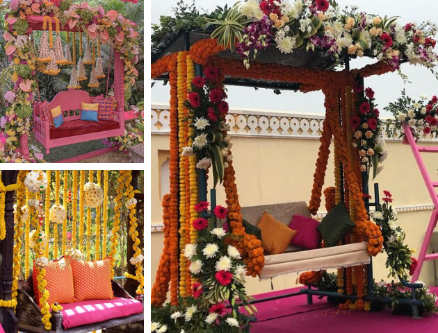 Swings as haldi decor