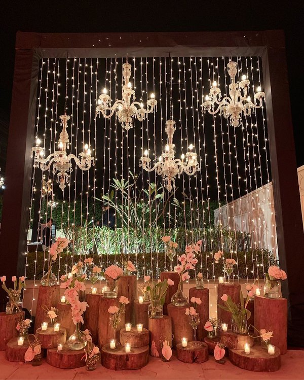 Shimmery Photo booth for Sangeet
