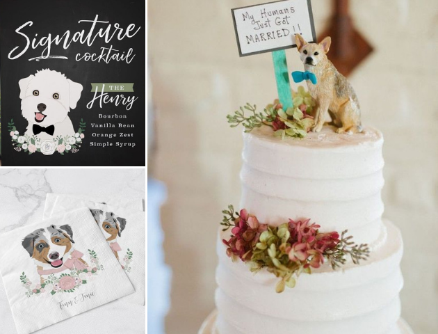 Elements for pets in your wedding