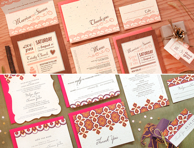 Plantable Wedding Invitations, Wedding Invitations, save the date, Eco- Friendly wedding invitations