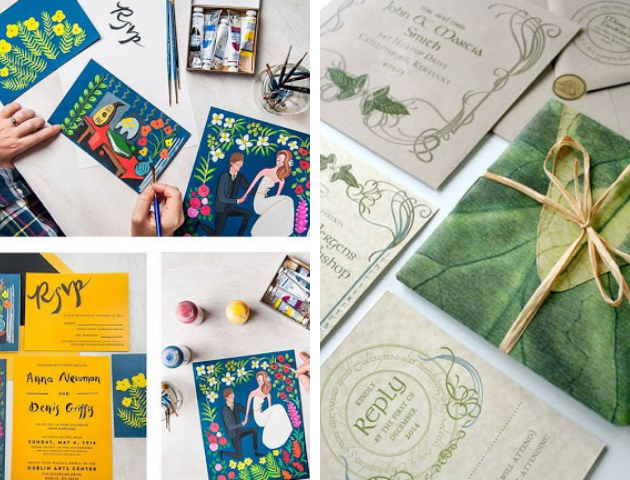 Make your own eco-friendly wedding invitations