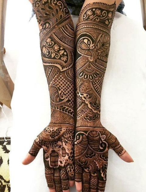 indian mehendi design, bridal mehendi designs, trending bridal mehendi designs