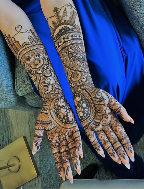 bridal mehendi designs, trending bridal mehendi designs