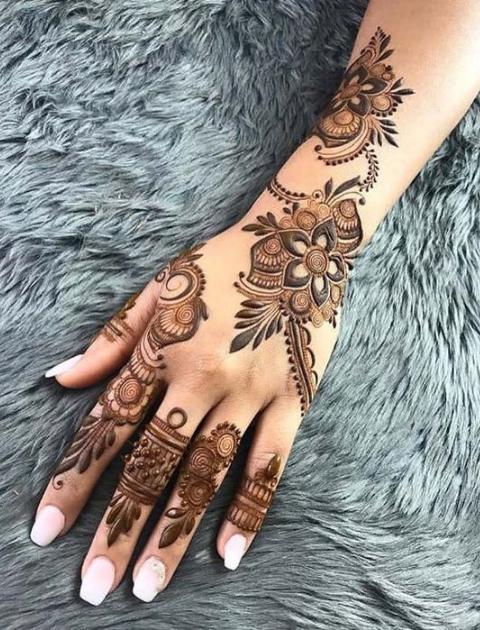 simple mehndi design, bridal mehndi design