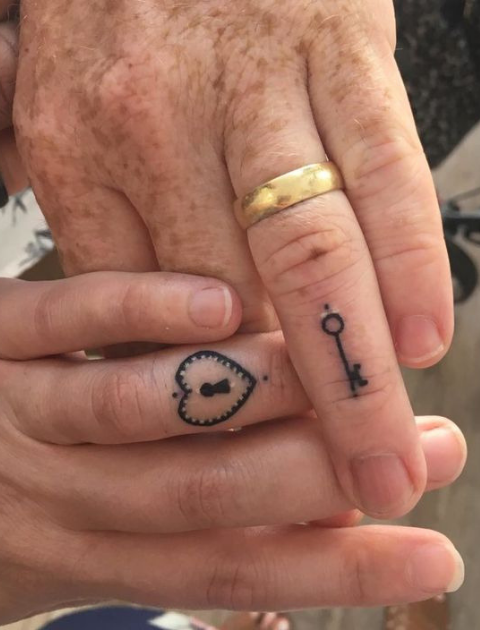 Couple Tattoo Ideas, Couple tattoo, Matching tattoo, His and Hers Tattoo, Marriage tattoo, Matching couple tattoo, Couple tattoo designs, Couple tattoos small, Best couple tattoos, Unique couple tattoos
