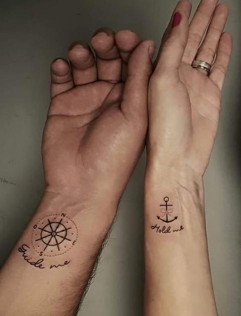 Couple Tattoo Ideas, Couple tattoo, Matching tattoo, His and Hers Tattoo, Marriage tattoo, Matching couple tattoo, Couple tattoo designs, Couple tattoos small, Best couple tattoos, Unique couple tattoos