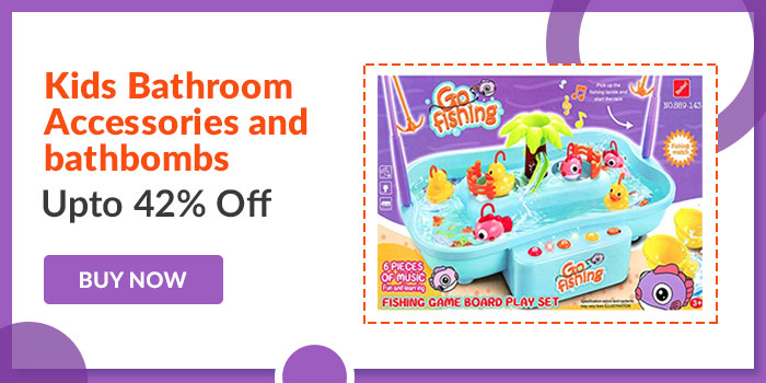 Kids Bathroom accessories and bathbombs Upto 42% off. Buy Now