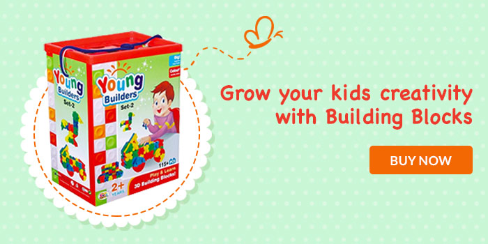 Grow your kids creativity with building blocks. Buy now