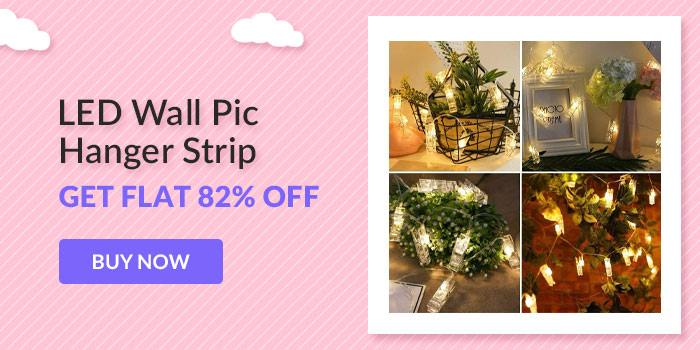 LED Wall pic hanger strip. Get Flat 82% off