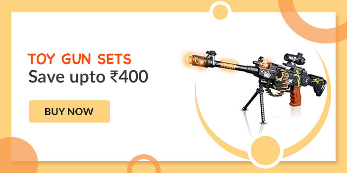 Toy gun sets. save upto Rs. 400. Buy Now