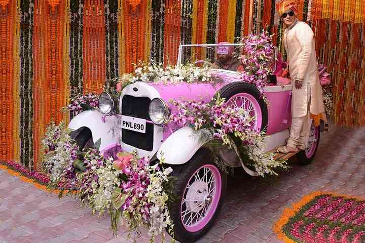 All Pink Theme Car Decoration