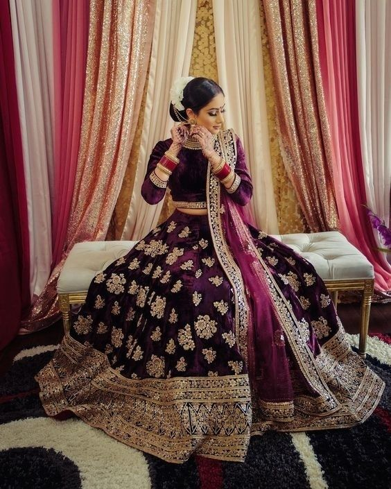 Purple Lehenga Colour