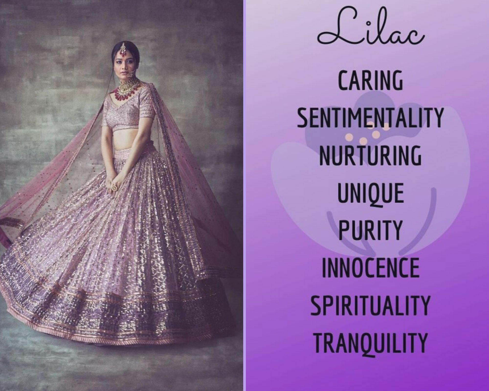 Lilac Lehenga colour