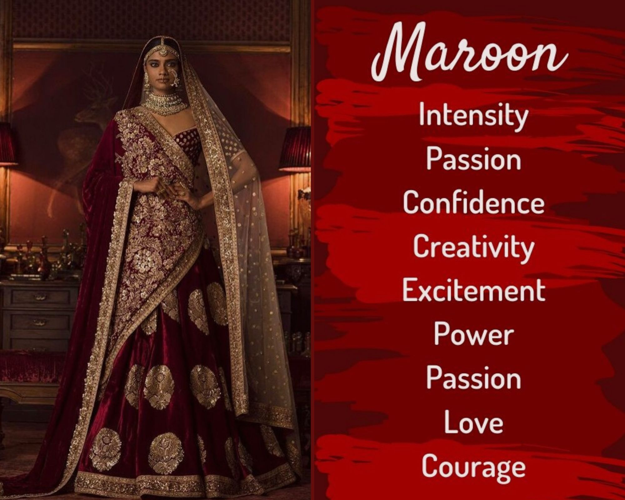 Maroon Lehenga Colour