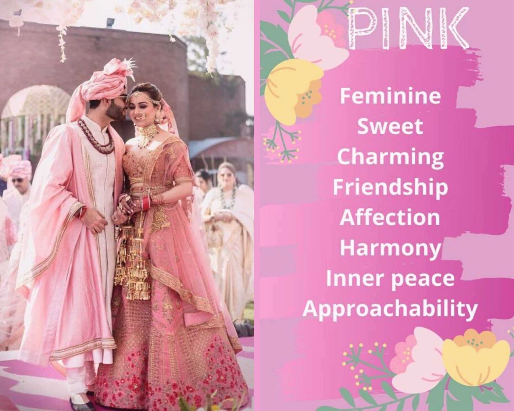 Pink Lehenga Colour