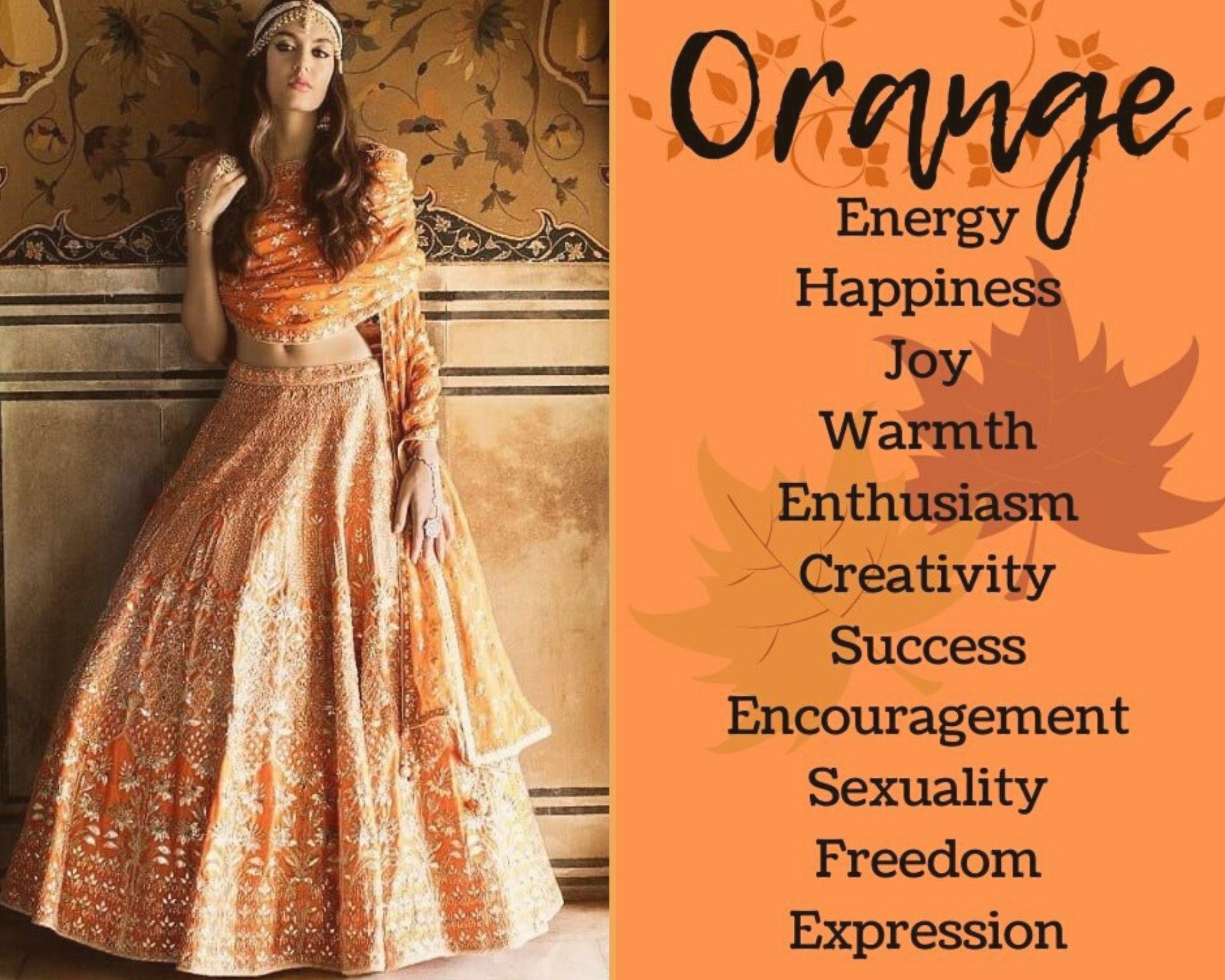 Orange Lehenga Colour