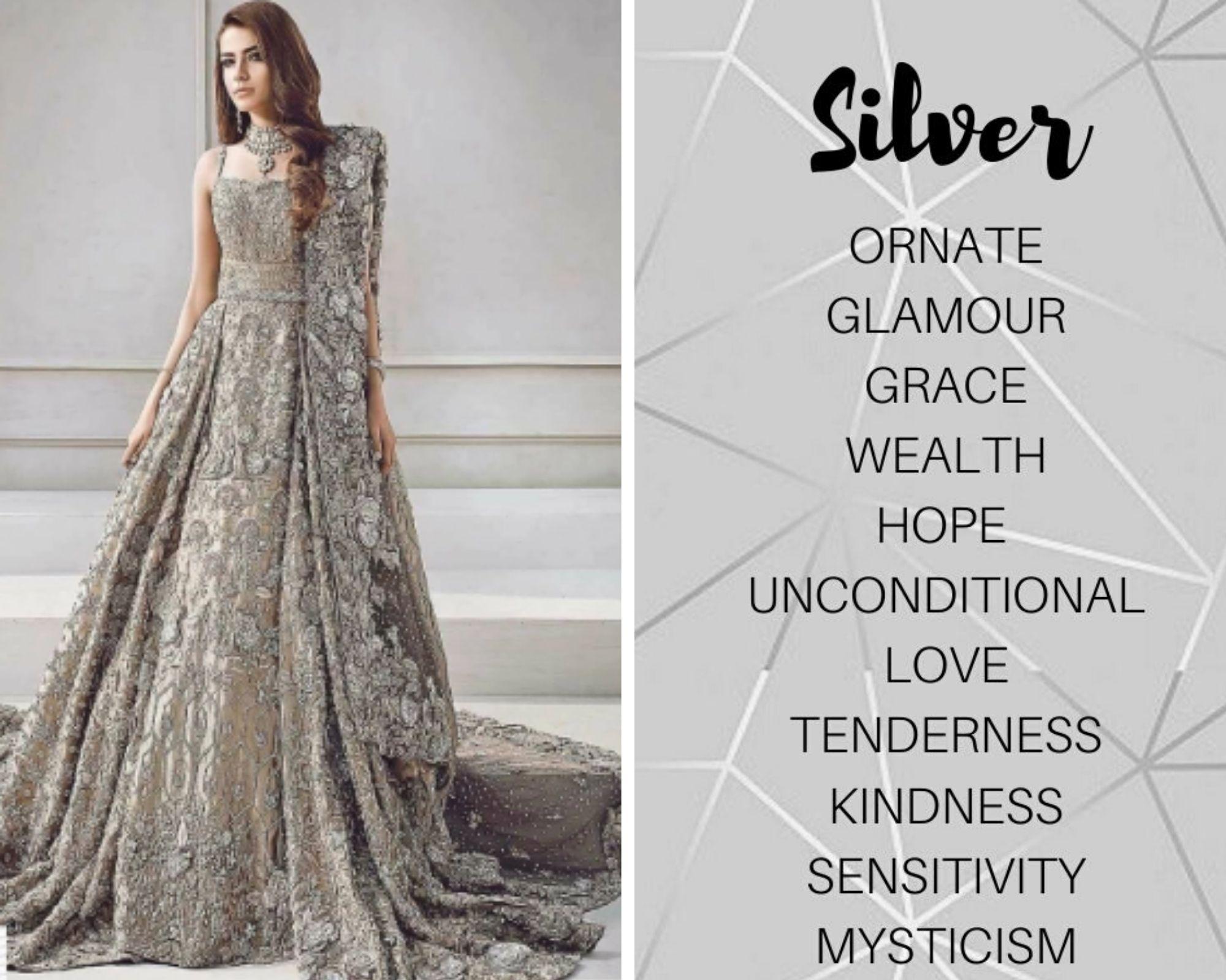 Silver Lehenga Colour