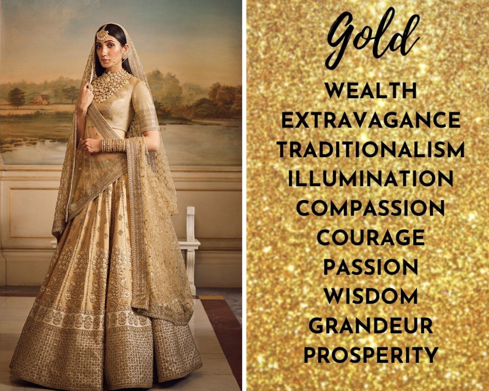 Golden Lehenga Colour