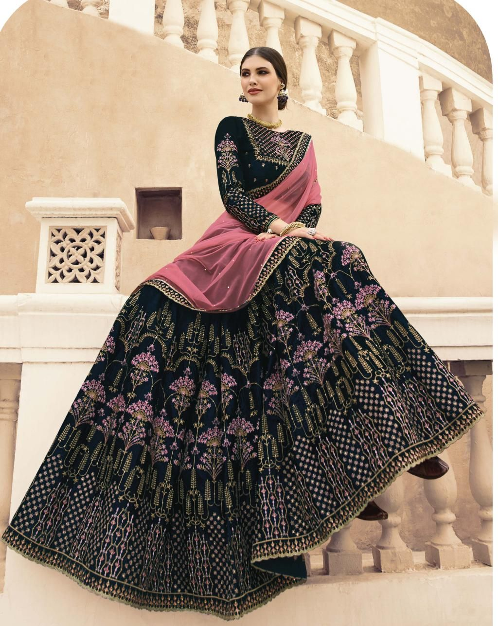 Blue Lehenga Colour