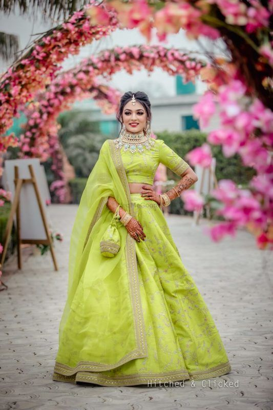 Green Lehenga Colour