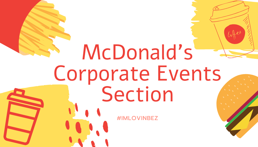 Corporate Events at McDonald's