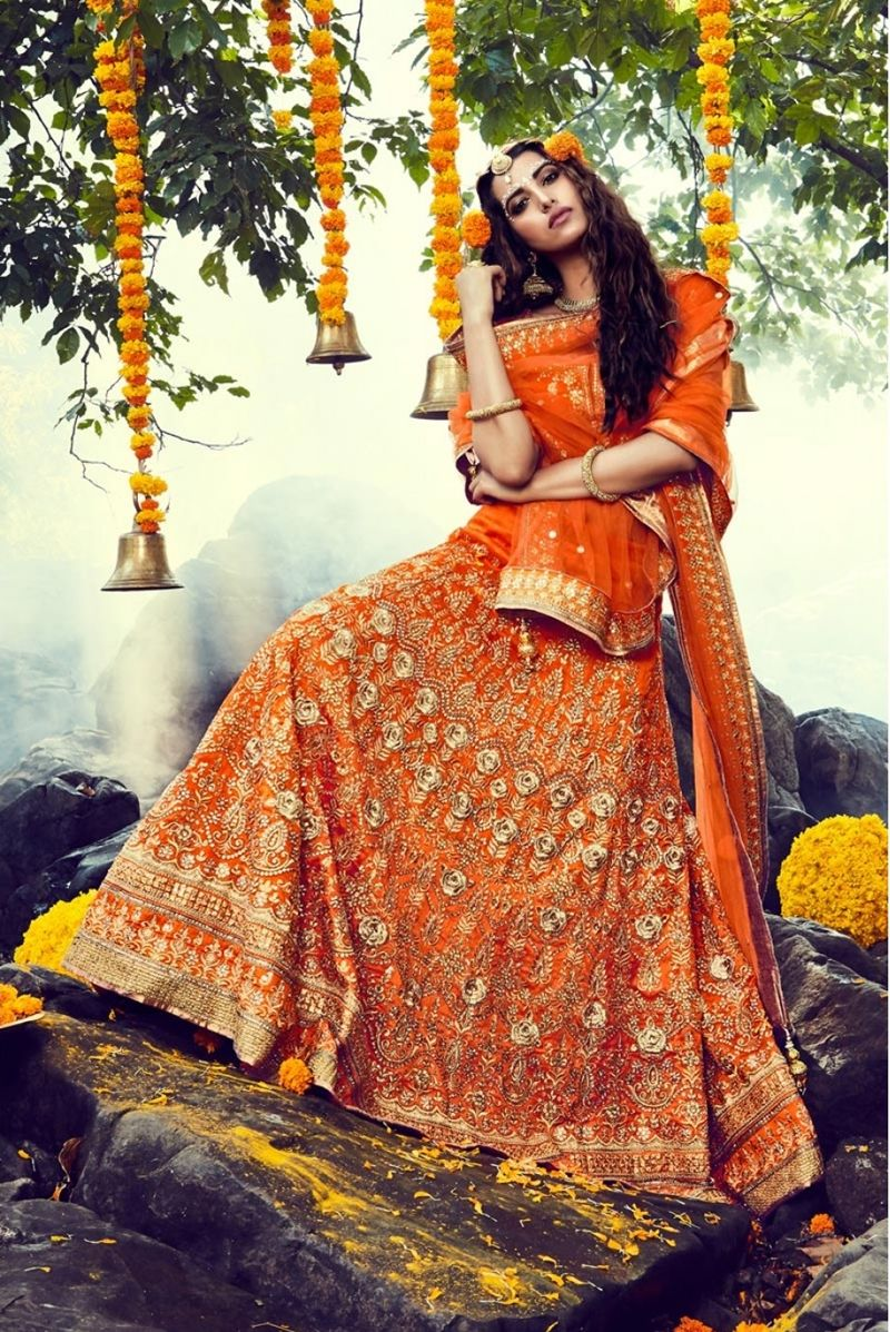 Orange Lehenga Colour