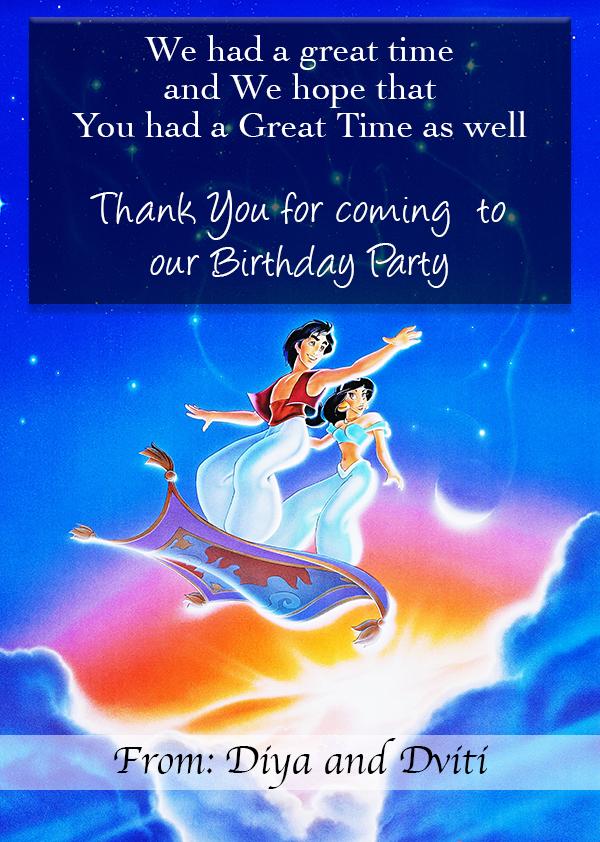 Aladdin Theme Party