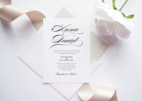 Calligraphy unique wedding invites