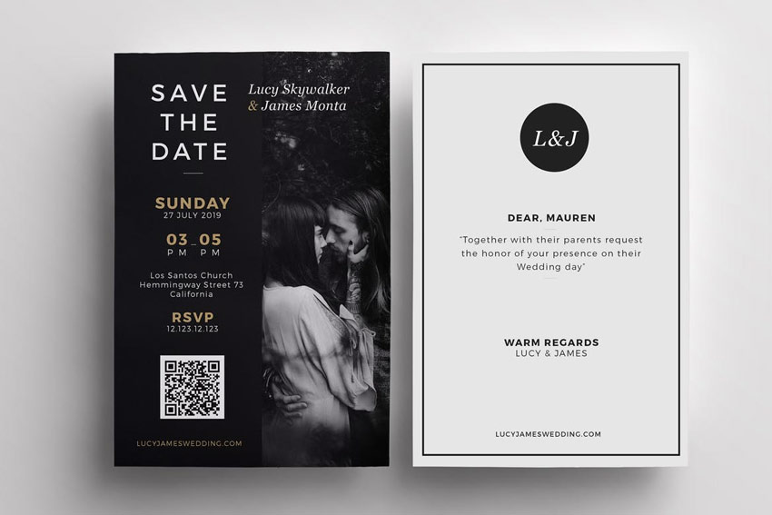 black and white 7 awesome ideas for digital wedding invitation for your wedding