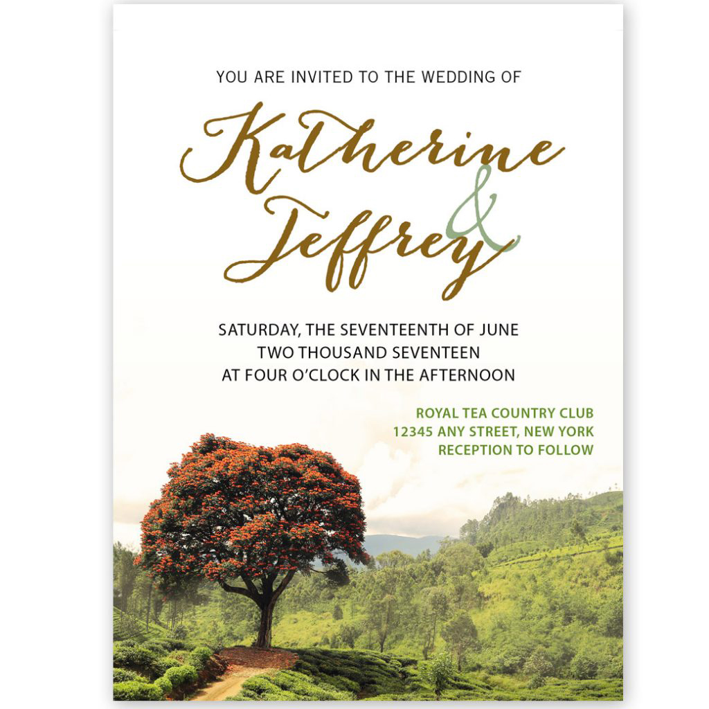 landscape unique wedding invites