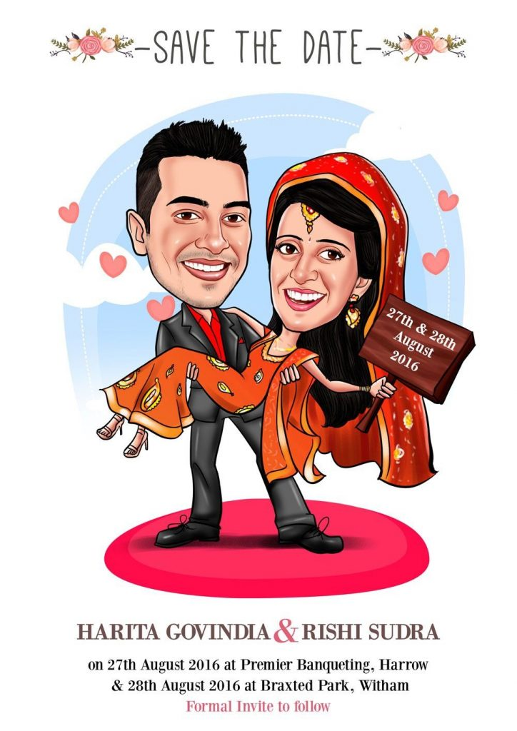 caricature 7 awesome ideas for digital wedding invitation for your wedding