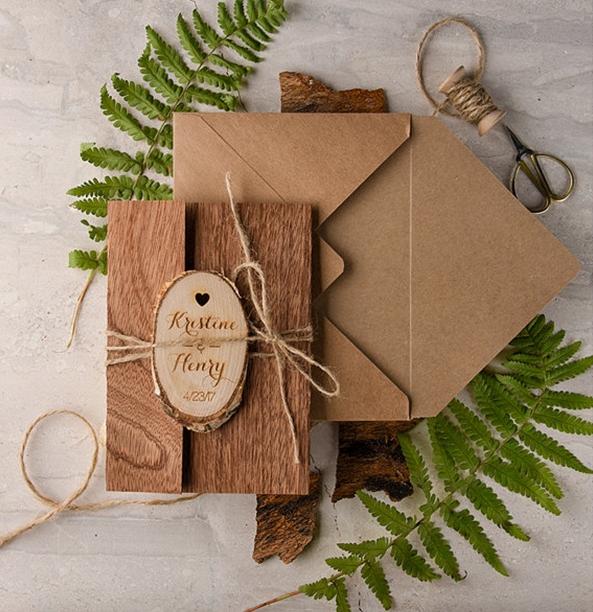 sustainable unique wedding invites