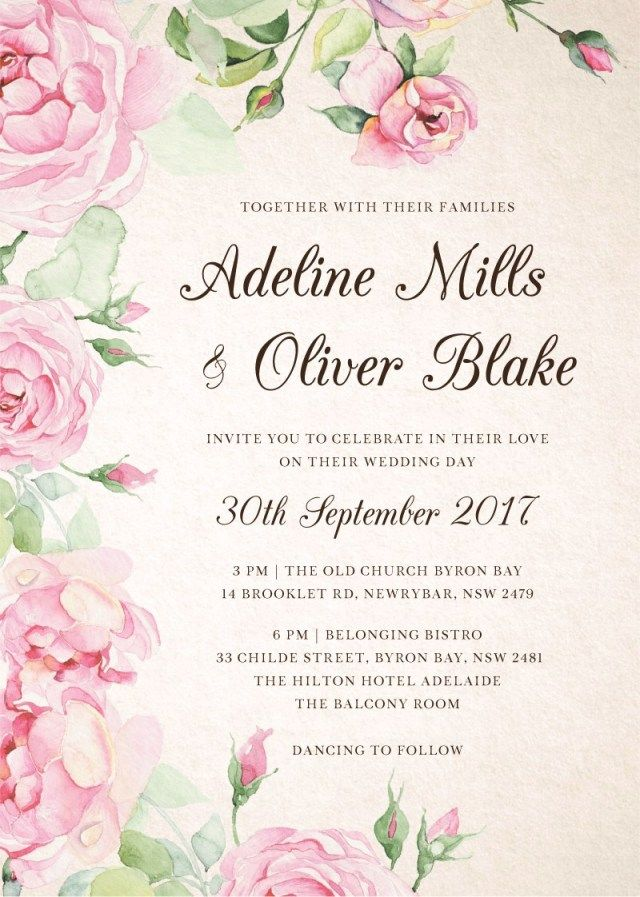 floral 7 awesome ideas for digital wedding invitation for your wedding