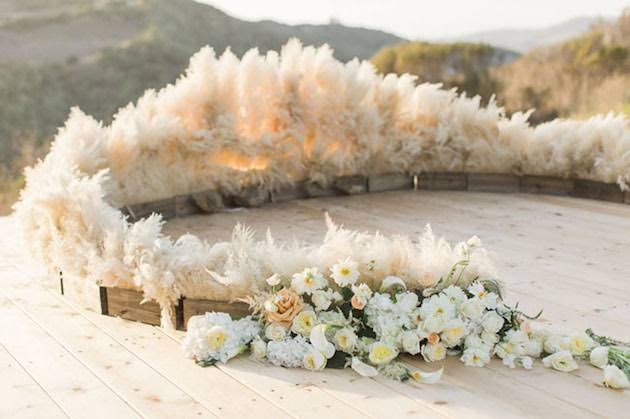 Pampas grass decor, Wedding trend predictions