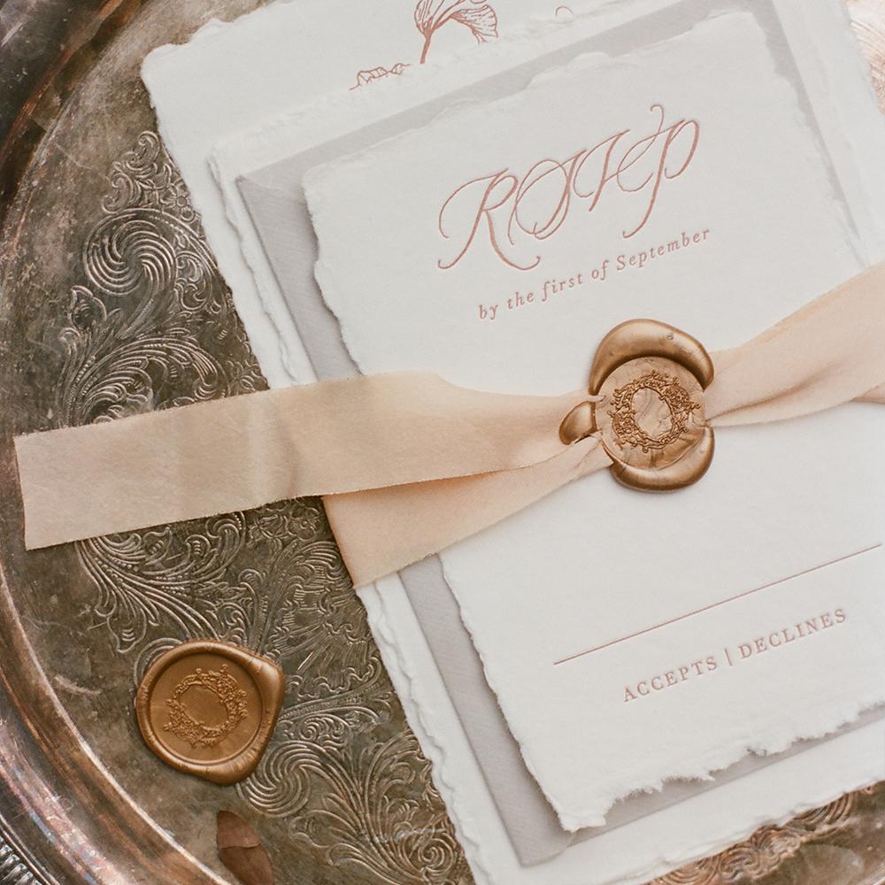 crest type unique wedding invites