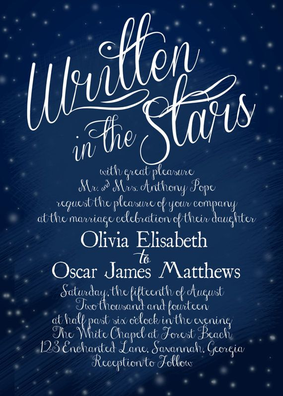 Starry night 7 awesome ideas for digital wedding invitation for your wedding